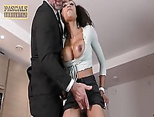 Busty,  Ebony Babe Got Facefucked During A Casual Bdsm Session With One Of Her Kinky Neighbors