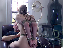 Horny Bondage Diva Face Fucked In Bdsm Porn Shoot